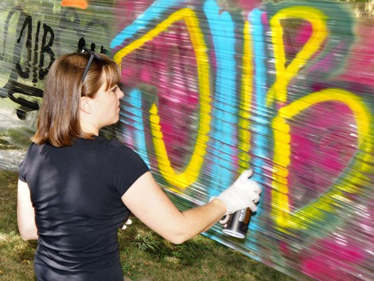 Graffiti Workshop der Jugendintensivbetreuung